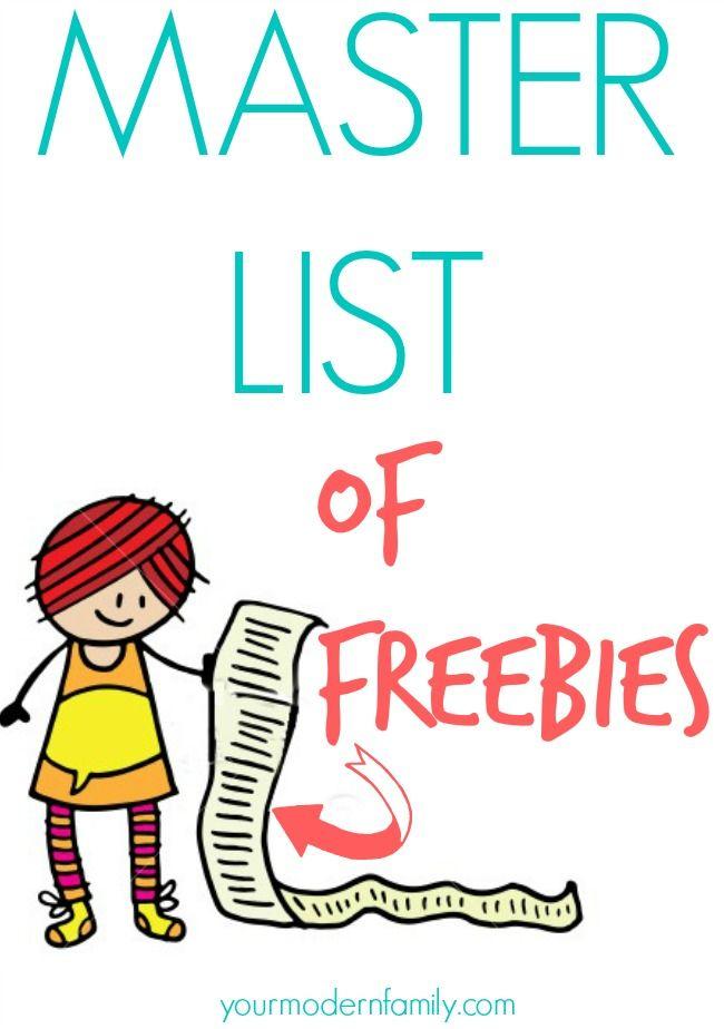WEBSITES THAT OFFER FREE THINGS!  Master list of freebie websites