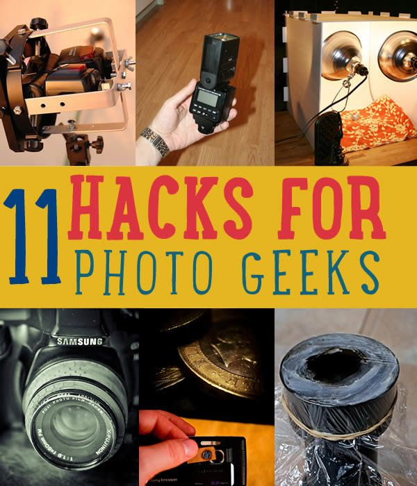 11 DIY Projects for Photographers   Photography Hacks   DIY Ideas for Cool Homemade Photo Equipment and Gear http://diyready.com/11-diy-photography-equipment-hacks/