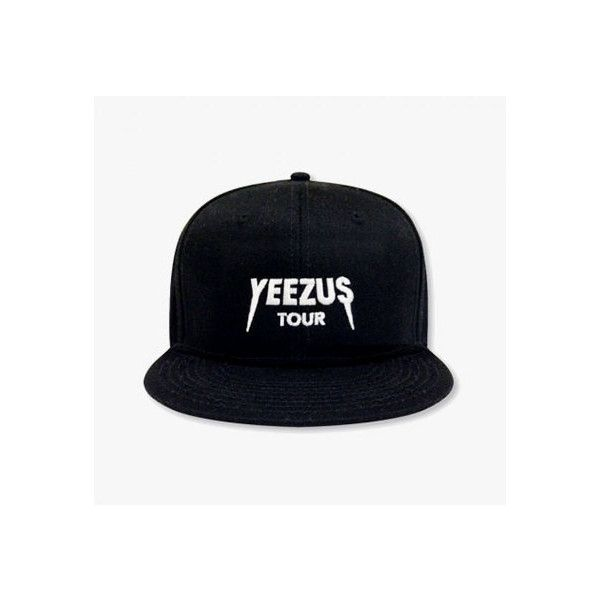 KANYE RELEASES YEEZUS TOUR MERCH ❤ liked on Polyvore featuring hats