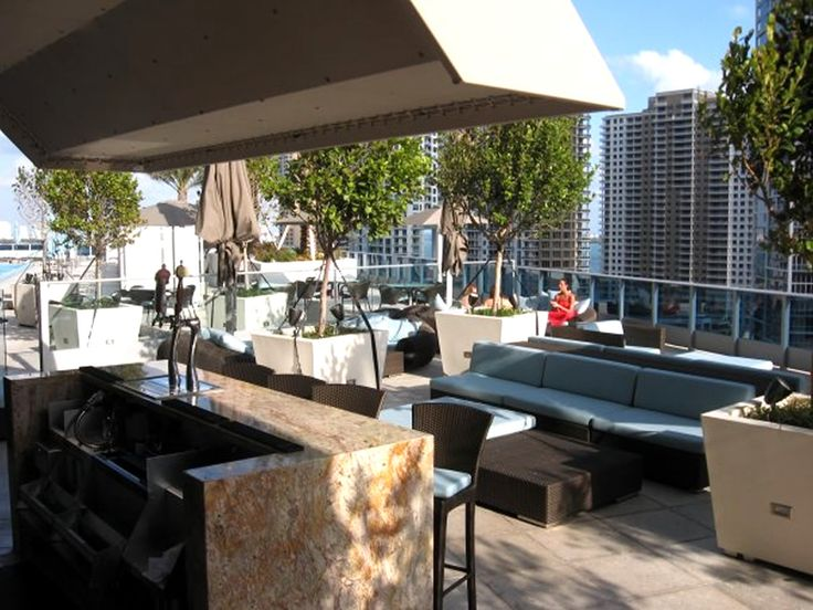 Outdoor Terrace Bar Of Area 31 Restaurant Downtown Miami | PERGOLAS |  Pinterest | Restaurants, Hospitality Design And Bar