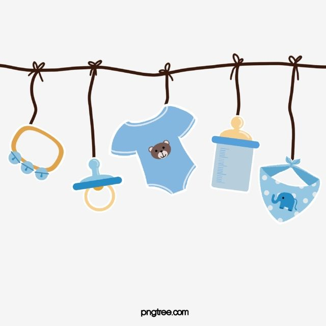 Baby Blue Lovely Clothing Clothes Clipart Bottle Scarf Toy Paper Style Hanging Png Transparent Clipart Image And Psd File For Free Download Baby Frame Baby Painting Photo Collage Template