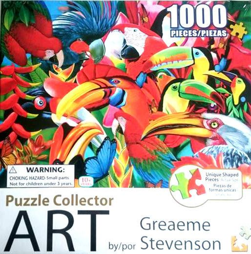 Head Ups Parrot Puzzle Collector Art 1000 Piece Jigsaw Christmas Gift FREE Post*