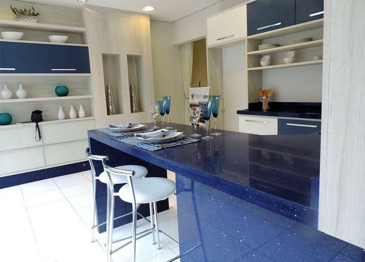 quartzo stone, azul, bancada, cozinha, banheiro, pedra