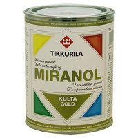 Miranol koristemaali. Kullan-, hopean- tai kuparinhohtoinen akryylimaali koristemaalaukseen puu- ja metallipinnoille.