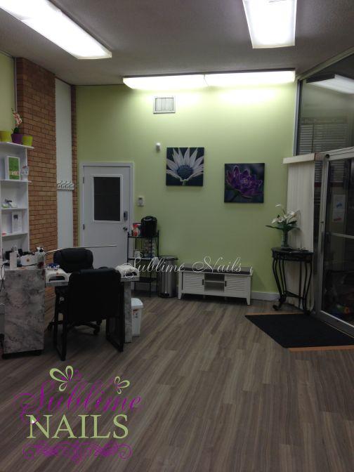 Sublime Nails new shop in Edmonton.