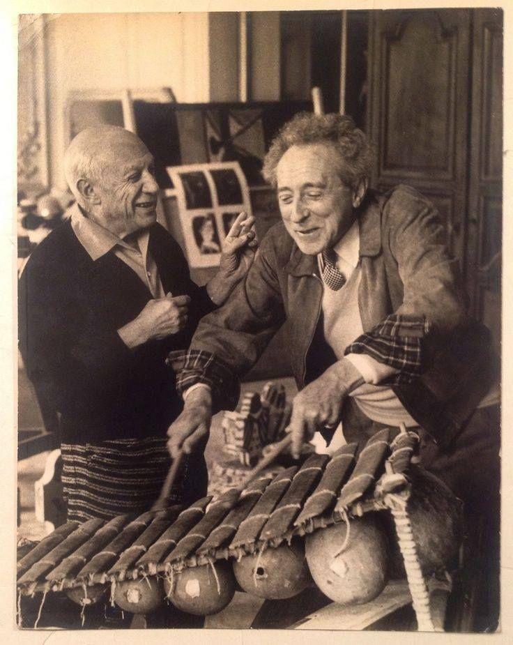 David Douglas Duncan - Picasso & Jean Cocteau, 1950s