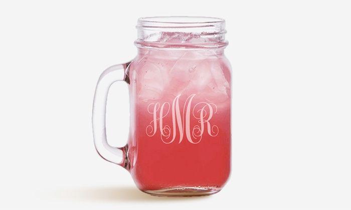 Monogram Online: Personalized Mason Jars
