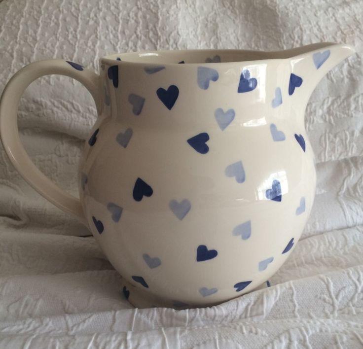 Emma Bridgewater Blue Hearts PERSONALISED 6 Pint Jug 2013