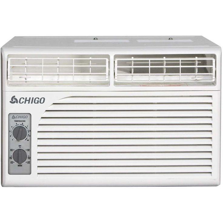 Chigo 5,400 BTU Window Air Conditioner with Mechanical Controls, White