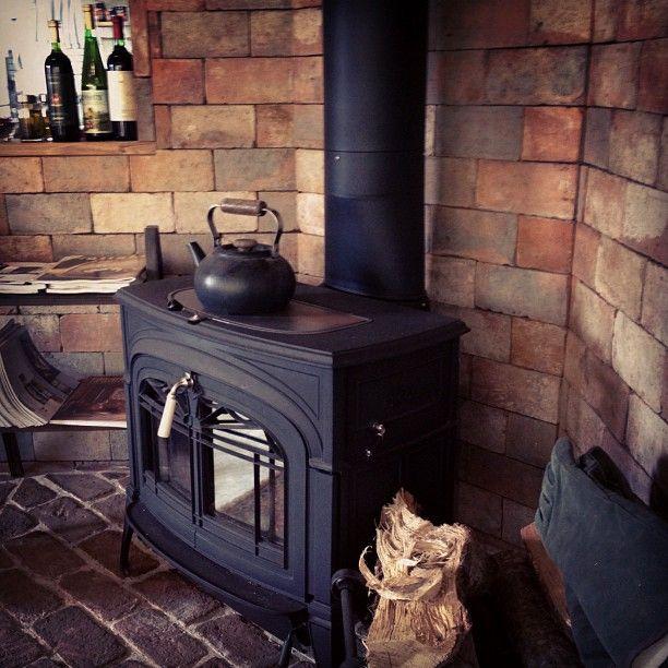 Stove fireplace and brick
