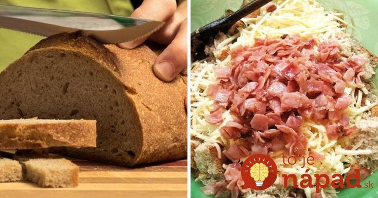 Starý chlieb, ktorý nikto nechcel, zmiešala s niekoľkými prísadami a vložila do formy: O 20 minút vytiahla z rúry perfektnú večeru!