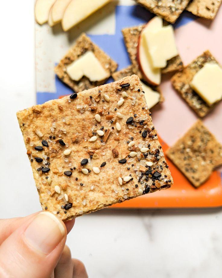 3 Ingredient Everything Bagel Grain Free Crackers Gluten Free