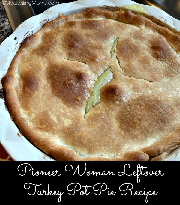 This copycat recipe for Pioneer Woman Leftover Turkey Pot Pie Recipe is delicious and easy to make!