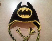 Batman Crochet Hat with Earflaps                                                                                                                                                                                 More