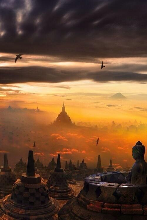 Borobudur, Indonesia. Amazing. It is magnificent.