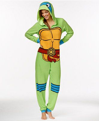Ninja Turtle Adult Hooded Onesie - Bras, Panties & Shapewear - Women - Macy's