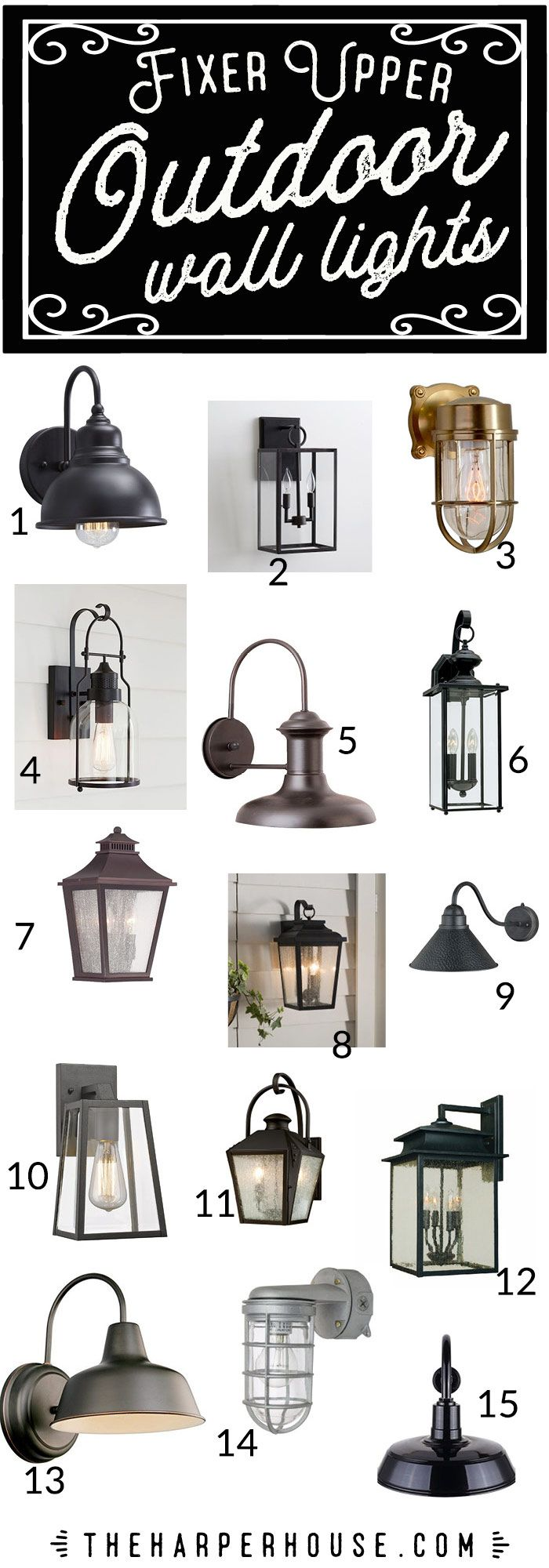 Outdoor Wall Lights Fixer Upper Style