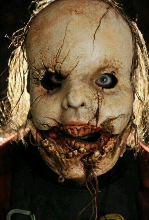 The one for the Saw films should have been the pig mask, not the doll on the tricycle!