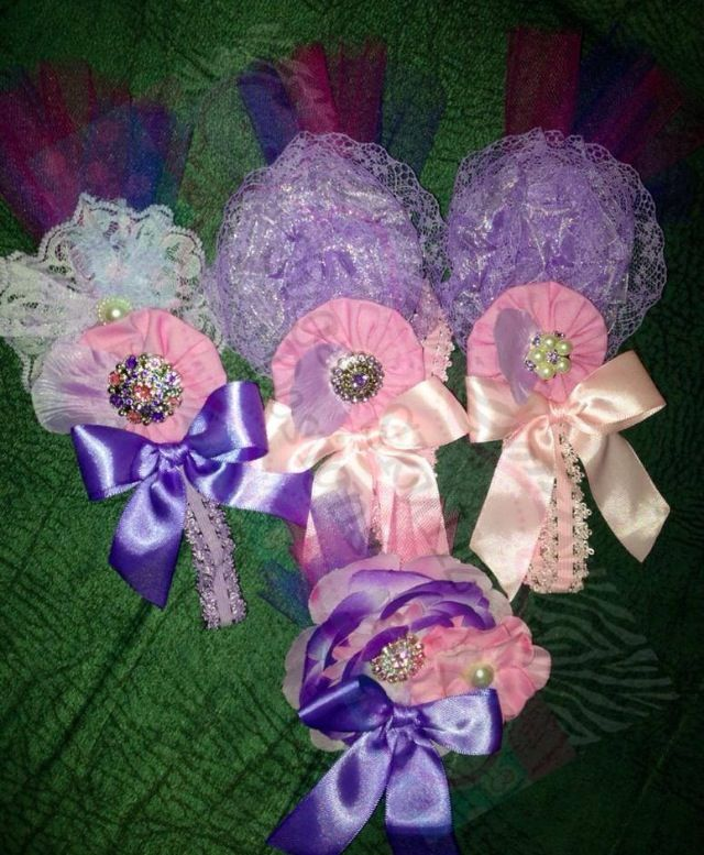 Matching headbands and clips for Flower girls