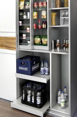 10 mejores ideas sobre puertas de despensa en pinterest - Estanteria interior armario ...