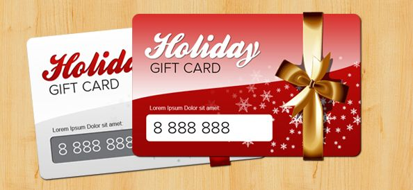 Holiday Gift Card PSD Template - Free PSD Files