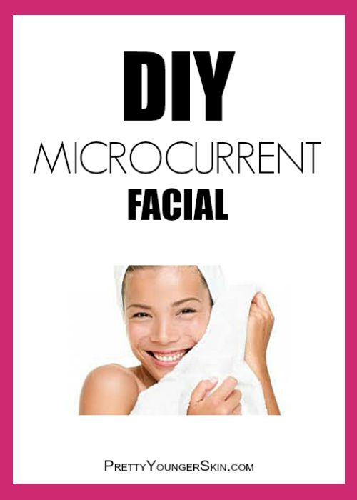 How to do a #DIY #MicrocurrentFacial at Home! Read the instructions here: http://prettyyoungerskin.com/how-to-do-a-diy-at-home-microcurrent-facial/