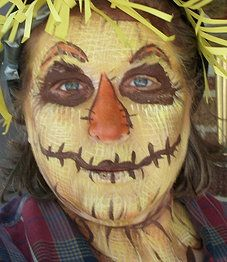Cute Scarecrow Face Paint | Scary Scarecrow Face Paint
