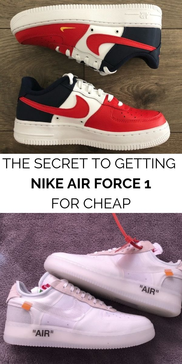 Find authentic Nike Air Force 1 sneakers up to 70% off when