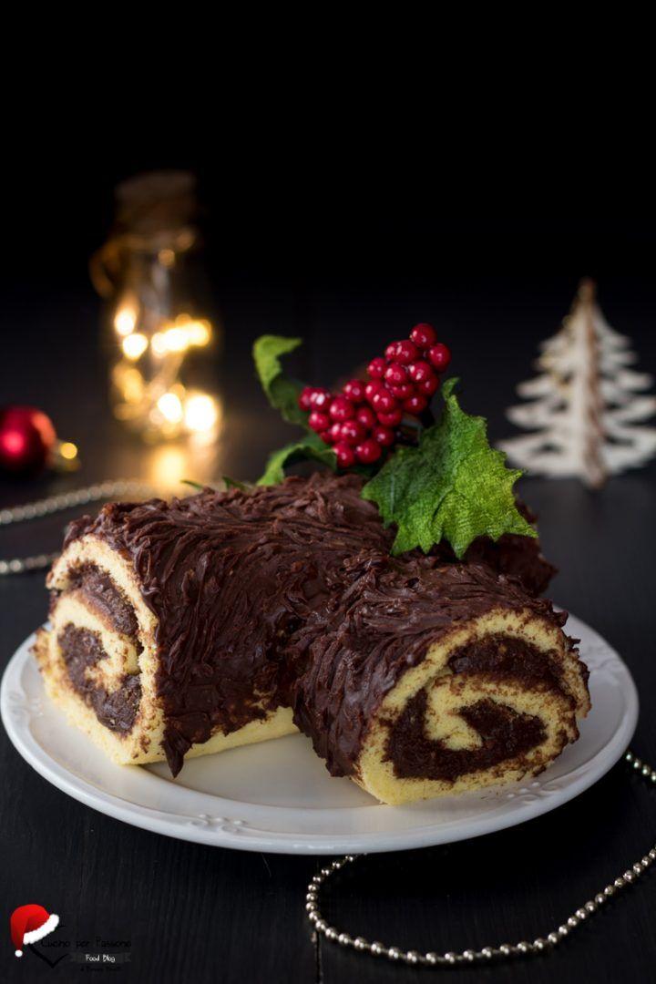 Tronchetto Di Natale Zafferano.Tronchetto Di Natale Al Cioccolato Natale Arriva Christmas