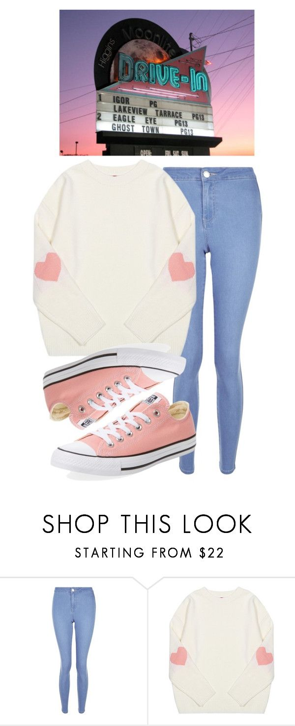 """💗drive-in movie date💗"" by sydthekyd01 on Polyvore featuring New Look and Converse"
