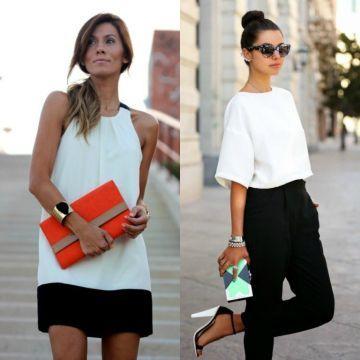 Si vistes blanco y negro procura que tu bolso sea colorido