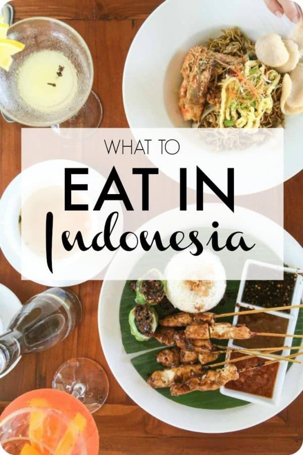 A guide of what to eat when you visit Indonesia. ***************************************** Indonesian food | Indonesia travel | Indonesian recipes | Indonesia Bali | Asian food | Asia travel