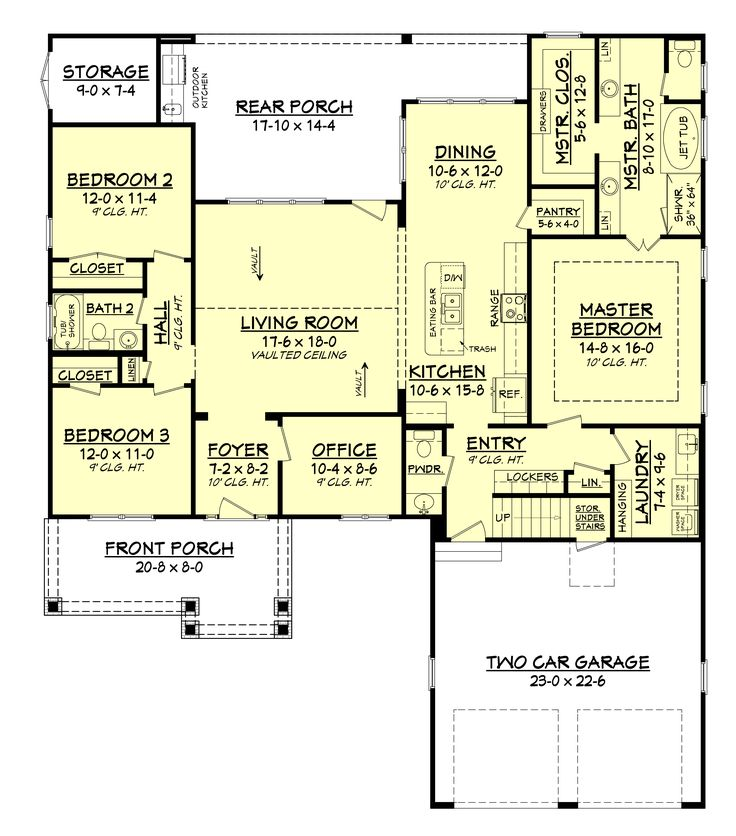 17 best ideas about craftsman house plans on pinterest for Open floor plan craftsman