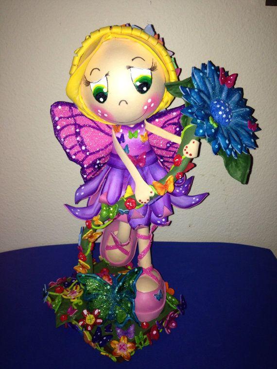 FAIRY MARIPOSA fofucha doll by SweetBellaLuna on Etsy, $38.00