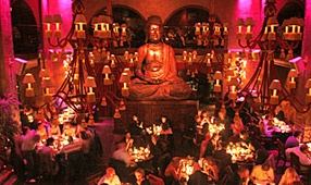 Paris! Buddah Bar; Asian Fusion Dinner; chic bar at night.