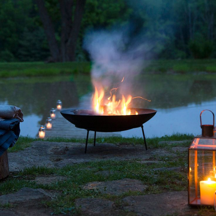 Cast Iron Dish Fire Pit in Outdoor Living Fire Pits + Accessories at Terrain