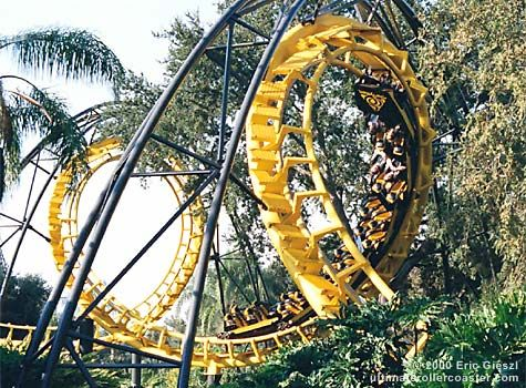 Python was a steel corkscrew roller coaster at busch - Roller coasters at busch gardens ...