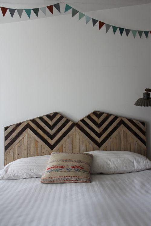 Headboard by designer and woodworker Ariele Alasko