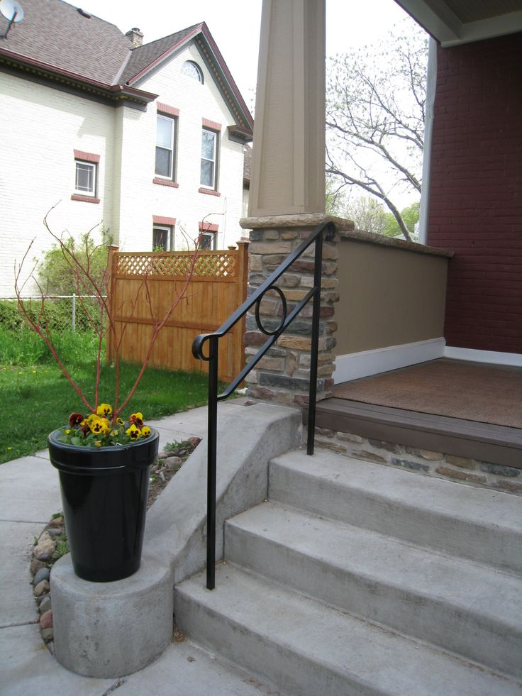Best Exterior Step Railings O Brien Ornamental Iron 400 x 300