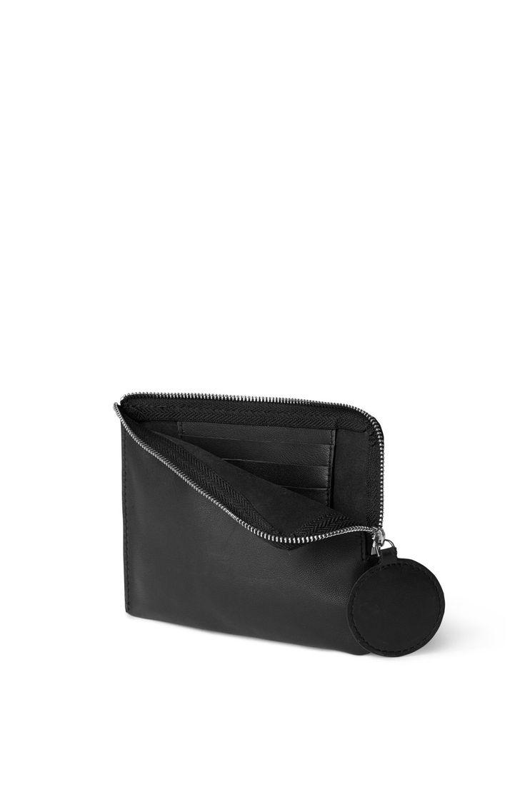 Back image of Weekday dot wallet in black