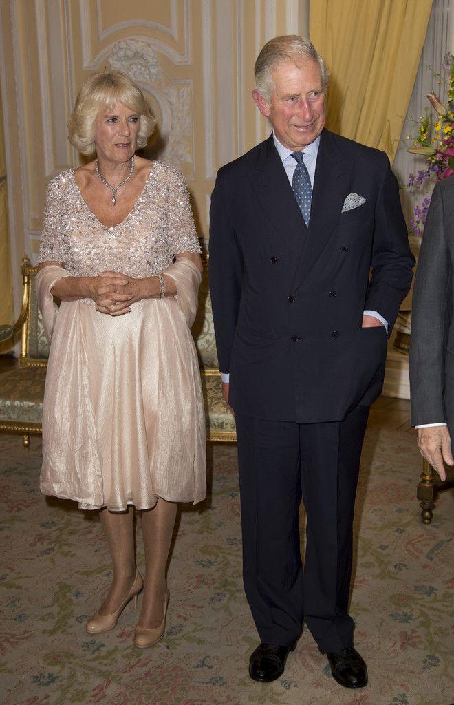 Pour leur deuxième jour à Bogota, le Prince Charles et la Duchesse Camilla de Cornouailles ont été accueillis au Palais Présidentiel par le président de Colombie Juan Manuel Santos Calderon et son épouse Maria, suivi le soir d'un dîner de gala. 30 Octobre 2014.