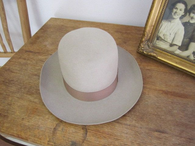 Vintage Men's Dobbs Hat. Fawn Large Brim Hat. Turner Bos Chicago Subwell Hat. by ontherebound on Etsy