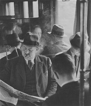 Berlin Stadtbahn 1937 In einem S-Bahnabteil in Berlin
