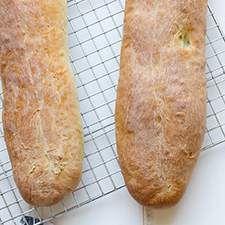 Crispy loaves of very tender bread, ideal for making a po' boy or Dagwood sandwich.