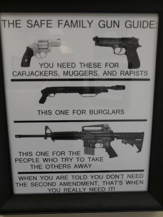 This is posted at a local shooting range. It's is truth. I got it covered. ;)