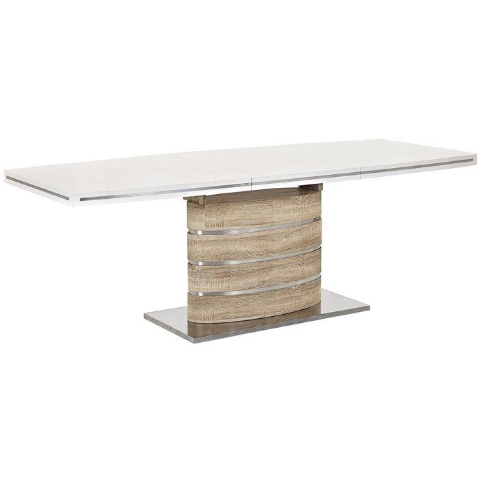 Stůl jídelní rozkládací dub sonoma/bílý FANO