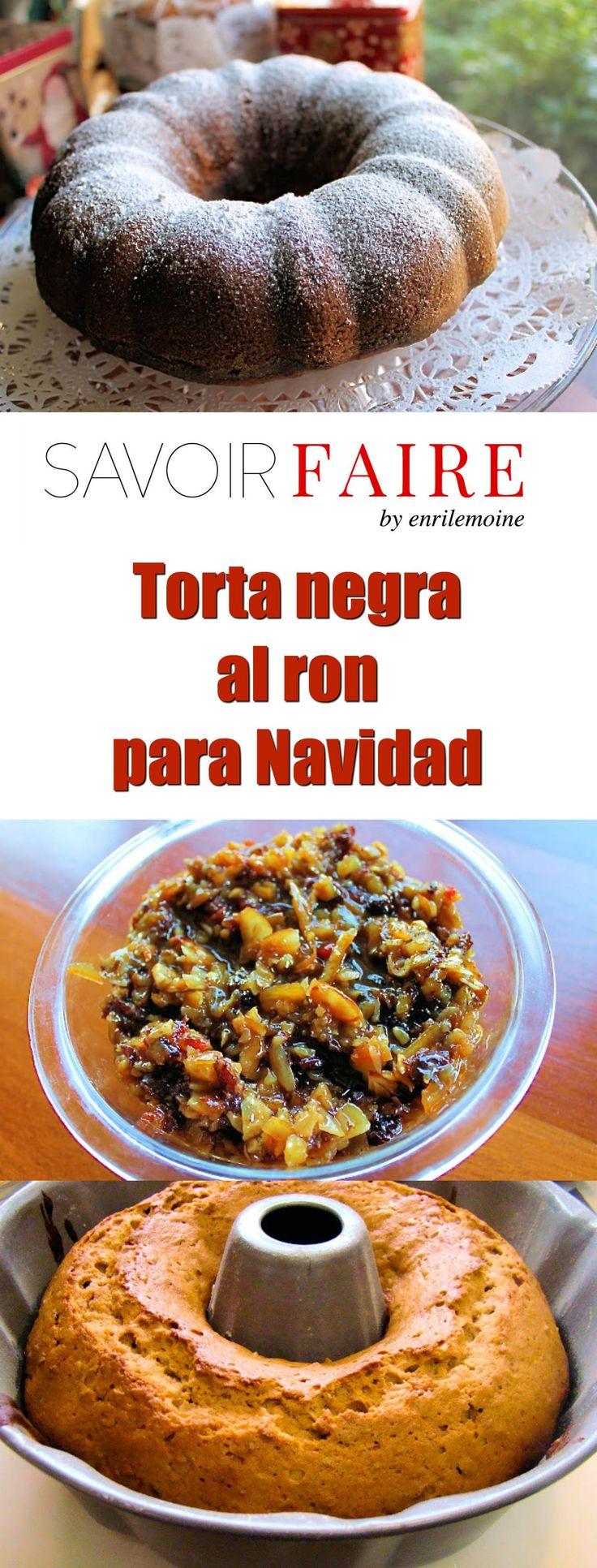 Esta receta de torta negra al ron para Navidad lleva frutos secos, nueces y se perfuma con el aroma de las especias y el Ron de Venezuela. Haz clic para ver cómo se prepara paso a paso. Gracias! via @enrilemoine