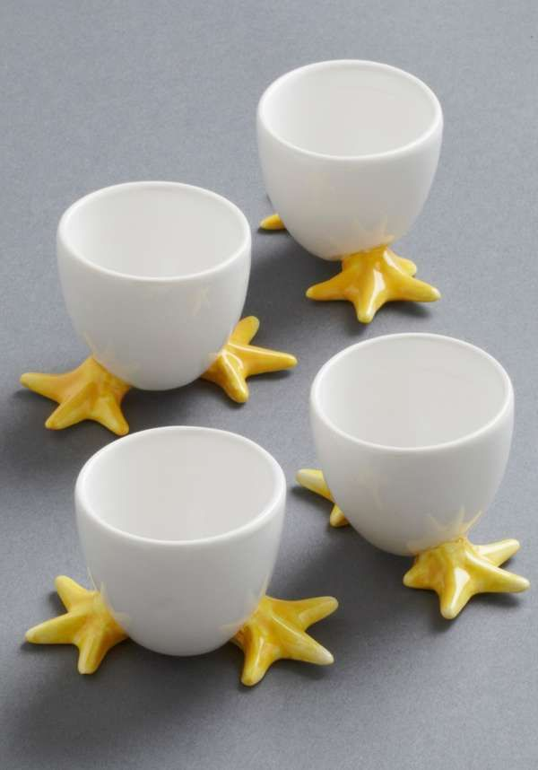 These Ceramic Cups Feature Fun Chick Feet #easter trendhunter.com