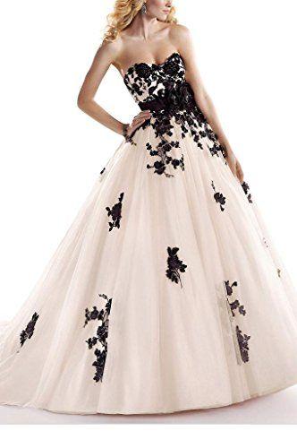 GEORGE BRIDE Schwarz retro handgefertigten Blumen A-Line Brautkleider Hochzeitskleider,Groesse 34, Elfenbein GEORGE BRIDE http://www.amazon.de/dp/B00OFP80KS/ref=cm_sw_r_pi_dp_9DaNwb1Y679S5