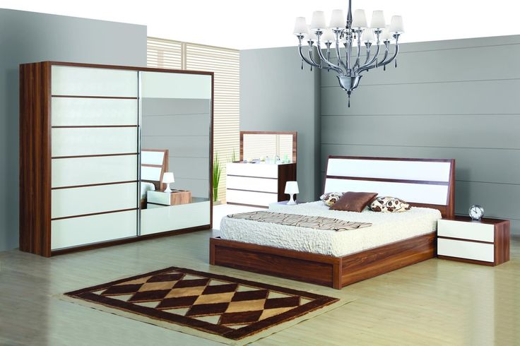 Bedroom: Cream Modern King Headboard With White Bed Cover Over Varnished Wooden Flooring In Black And White Bedroom Black Couch With Black Table Lamp Shades And Black Bedside Table from Installing Modern Headboards for Contemporary Bed Design